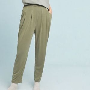 Saturday Sunday Anthro Abroad Cupro Olive Joggers